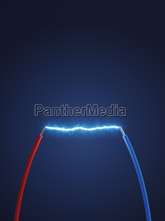 3d rendering wires power cables connection