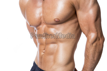 six pack of muscular man in