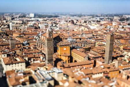 italy emilia romagna bologna cityscape tilt