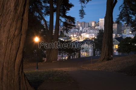 usa park san francisco at night