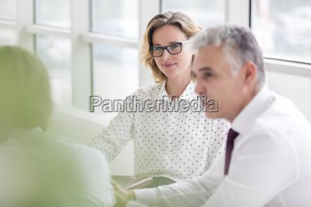 businesswoman attending a meeting