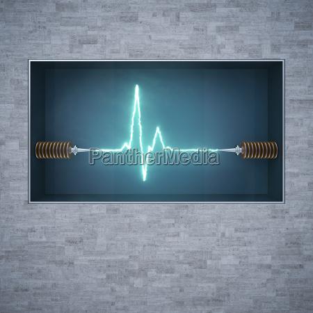 energiestromstromfluss3d rendering