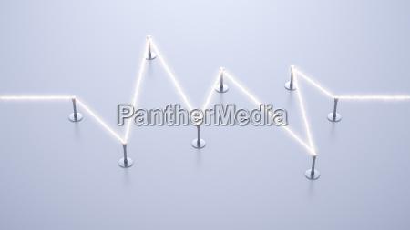 energiestromflusstragen3d rendering