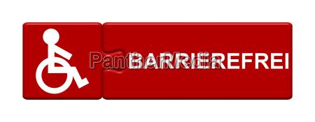 puzzle button zeigt barrierefrei