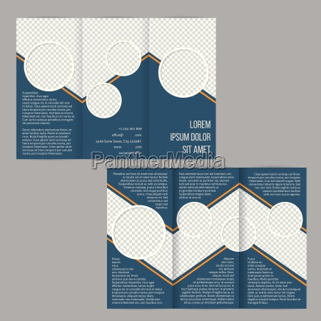 blue tri fold flyer brochure template