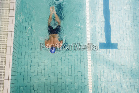swimmer doing the breaststroke in swimming