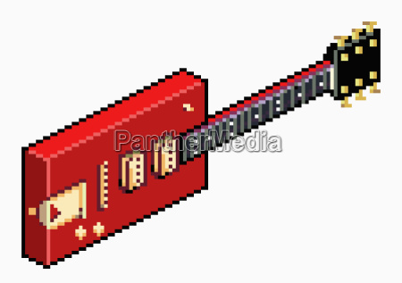 illustrative image of pixelated red electric