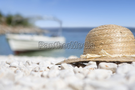 close up sun hat on sunny