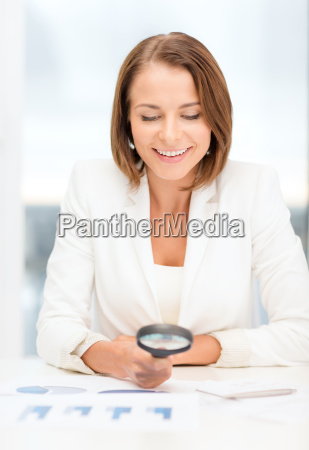 businesswoman or student in working with
