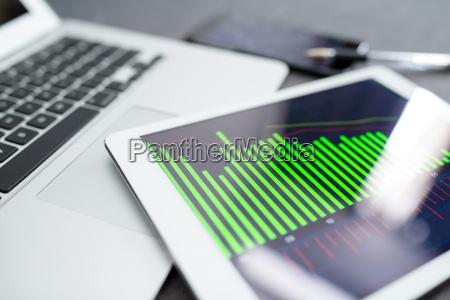 business analytics auf tablet computer