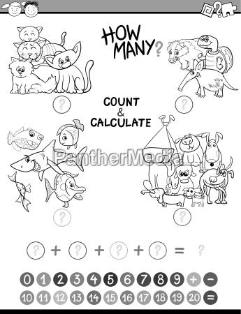math avtivity coloring book