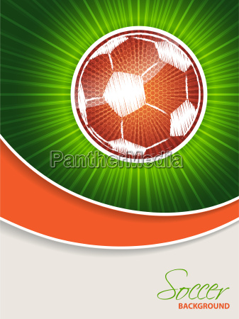 abstract soccer brochure with orange ball