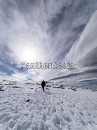 spain sierra de gredos man hiking