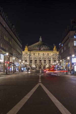 france paris view to palais garnier