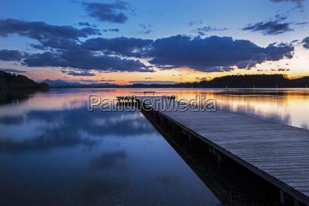 austria salzburg state lake wallersee at