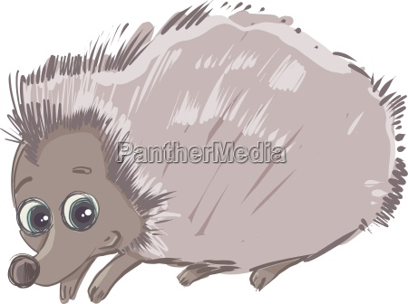 cartoon hedgehog animal character