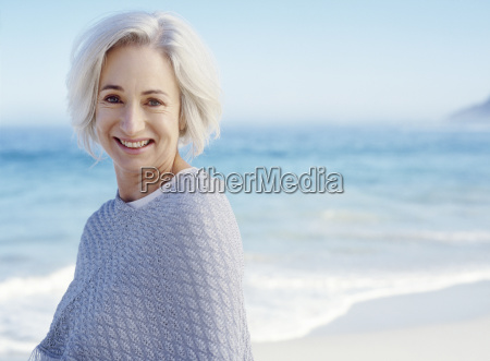portrait of middle aged woman on