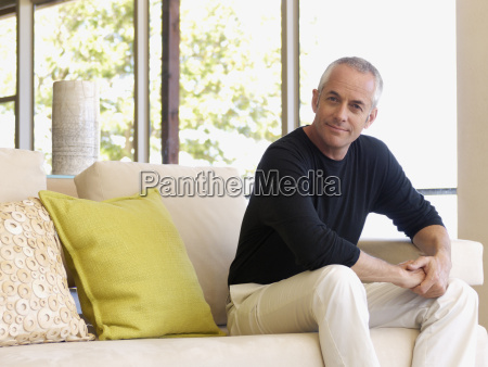 portrait of middle aged man on