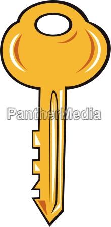 gold key karikatur