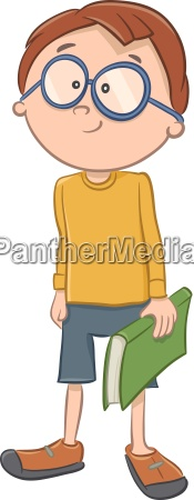 boy character with book