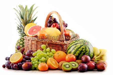 composition with assorted fruits