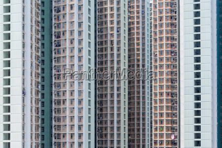 skyscraper facade of multistory