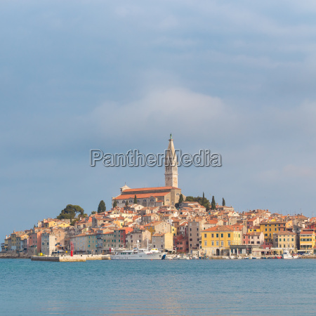 beautiful view of rovinj city croatia