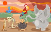 animals group cartoon illustration