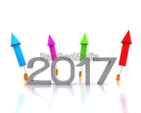 3d background with new year coming