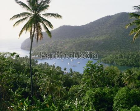 marigot bayst luciainseln unter dem windewestindienkaribikmittelamerika