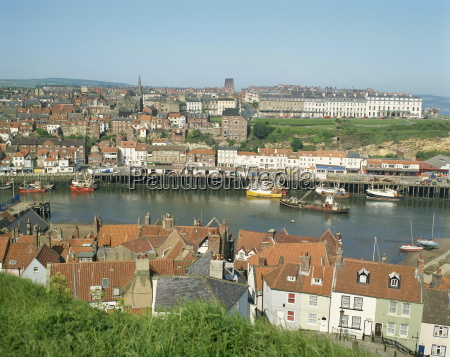 view over whitby from st marys