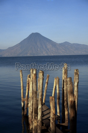 lake atitlan and volcano atitlan guatemala