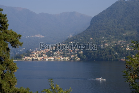 view of lake como lombardy italian