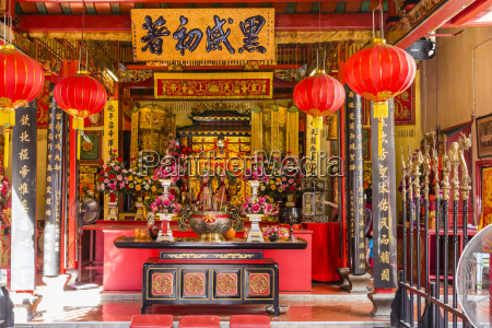 temple in the city of kuching