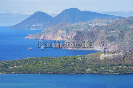 view of lipari and salina island