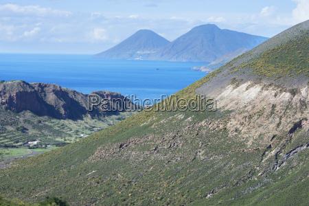 view of gran cratere lipari and