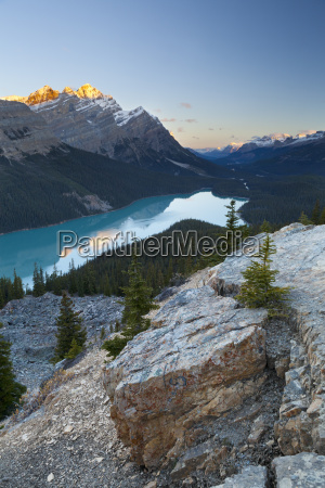 peyto lake at sunrise banff national