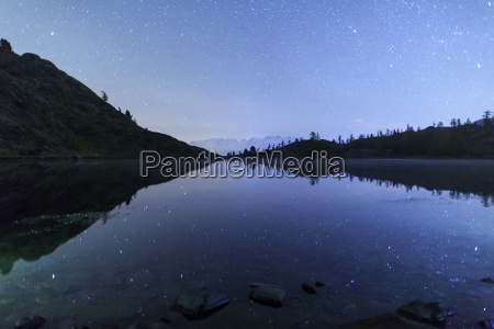 starry night on mount rosa seen