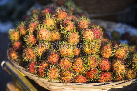 rambutan mawlamyine market mon state myanmar
