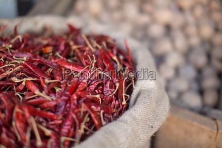 dried chillies dambulla sri lanka asia
