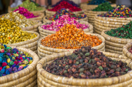 herbs for sale in a stall
