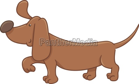 dachshund dog cartoon character