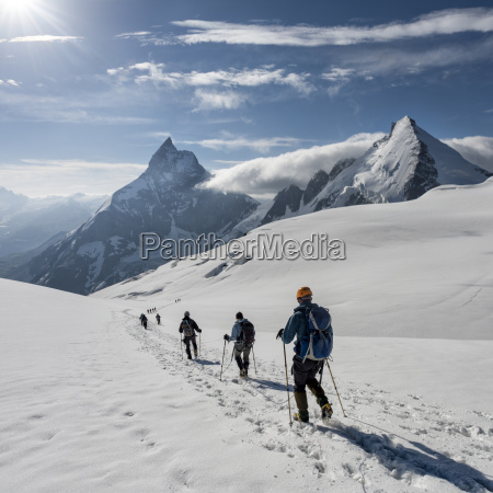 switzerlalnd mountaineers heading to matterhorn and