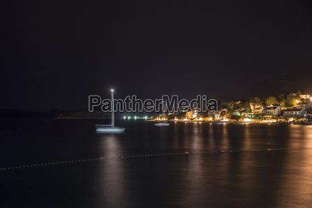 croatia dalmatia slano at night