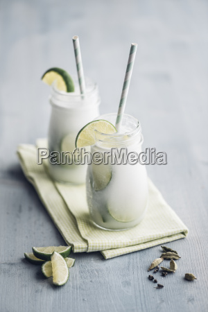 homemade coconut milk flavoured with syrup