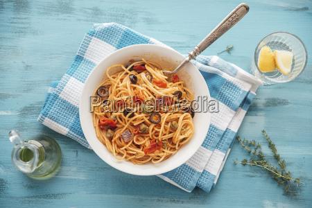bowl of spaghetti alla pizzaiola