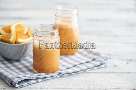 orange carrot pineapple ginger smoothie in