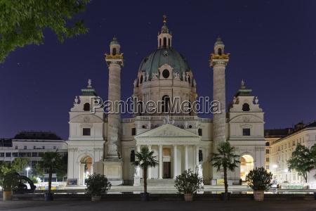 austria vienna view to st charles
