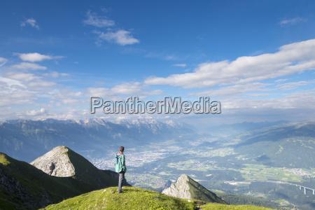 austria tyrol hiker looking to innsbruck