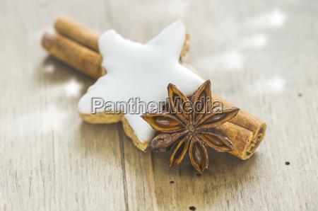 home baked cinnamon star cinnamon sticks